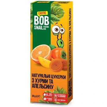 Пастила фруктовая хурма-апельсин Bob Snail, 30 гр