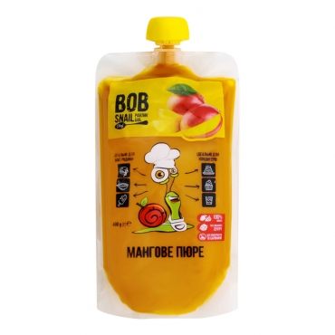 "Пюре фруктовое ""Манго"" Bob Snail 400 гр"