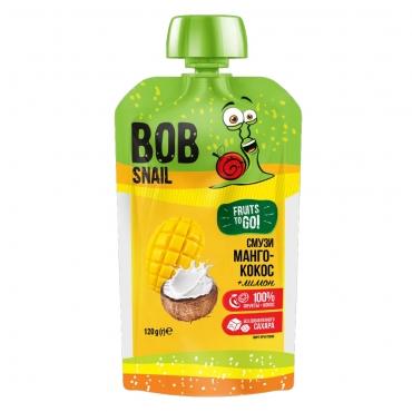 """Пюре фруктовое Смузи """"Манго-Кокос-Лимон"""" Bob Snail 120 гр"""