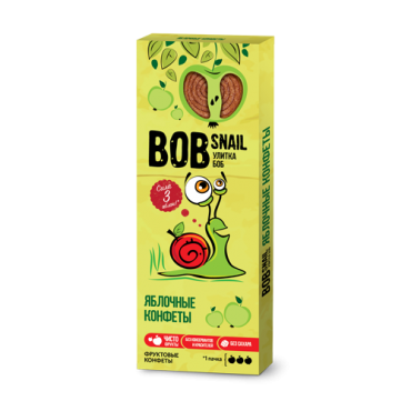 Пастила яблочная Bob Snail, 30 гр