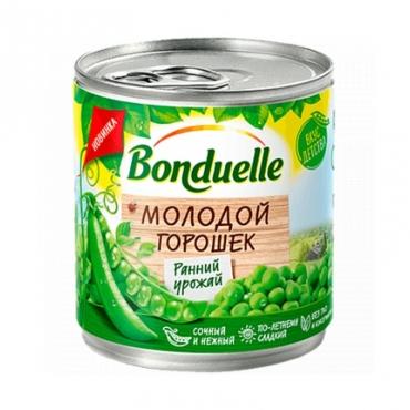 """Горошек зеленый """"Молодой"""" Bonduelle, 425 мл"""