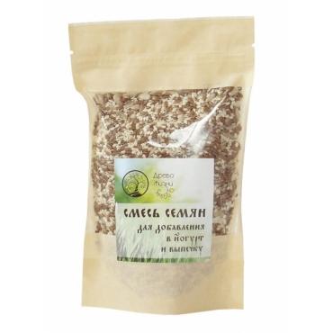 Смесь семян для добавления в йогурт или выпечку Древо Жизни, 200 гр