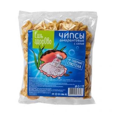 Чипсы Амарантовые с солью Ешь Здорово, 90 гр