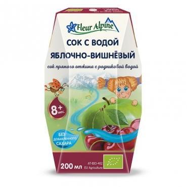 """Детский сок с родниковой водой """"Яблочно-вишневый"""" Fleur Alpine, 0,2 л"""