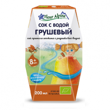 """Детский сок с родниковой водой """"Грушевый"""" Fleur Alpine, 0,2 л"""