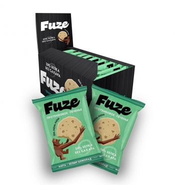 """Протеиновое печенье """"Мята-белый шоколад"""" Fuze, 40 гр"""