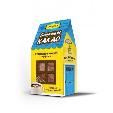 "Какао напиток тонизирующий ""БОДРЯЩЕЕ КАКАО"" Happiness, 100 гр"