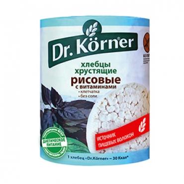 """Хлебцы хрустящие """"Рисовые"""" Dr.Korner, 100 гр"""