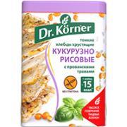 """Хлебцы хрустящие """"Кукурузно-рисовые с прованскими травами"""" Dr.Korner, 100 гр"""