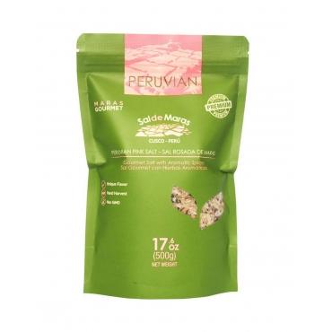 Соль розовая крупнозернистая со специями MARAS GOURMET, 500 гр