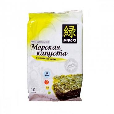 Капуста морская с зеленым чаем Midori, 5 гр