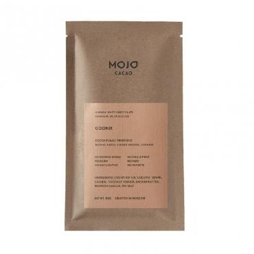"""Шоколад белый 80 гр """"Cookie"""" с гречишным чаем со вкусом печенья Mojo Cacao"""