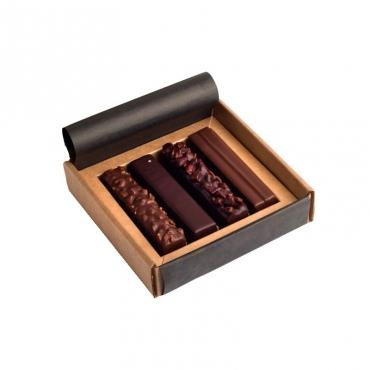 Ассорти шоколадно-ореховых батончиков Mojo Cacao,93 гр