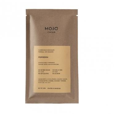 """Молочный шоколад 80 гр """"Popcorn"""" 54% какао с воздушным соленым попкорном Mojo Cacao"""