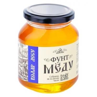 "Мед натуральный цветочный ""Фунт мёду Водар лесу"" Мядовы шлях, 454 гр"
