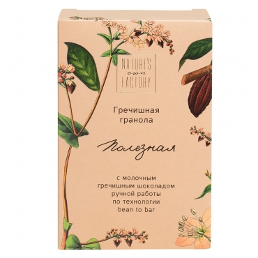 Гранола гречишная с молочным шоколадом Nature's own factory, 75 гр