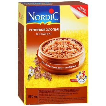 Хлопья гречневые Nordic, 550г