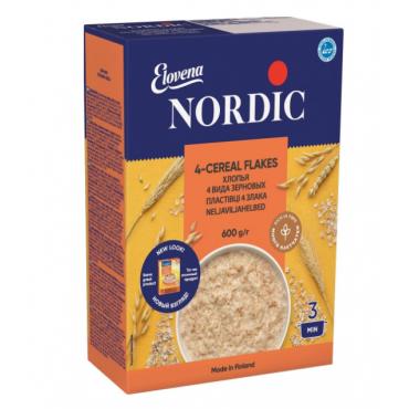 Хлопья 4-х видов зерновых Nordic, 600г