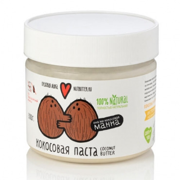 Кокосовая паста (манна) Nutbutter, 320 гр