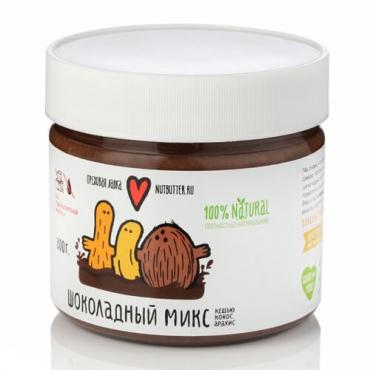 Шоколадный микс (кешью, кокос, арахис) Nutbutter, 320 гр