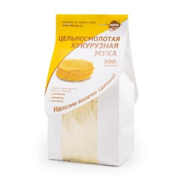 Мука кукурузная цельносмолотая Образ Жизни Алтая, 500 гр