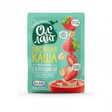 Каша овсяная молочная с клубникой Ол'лайт, 40 гр