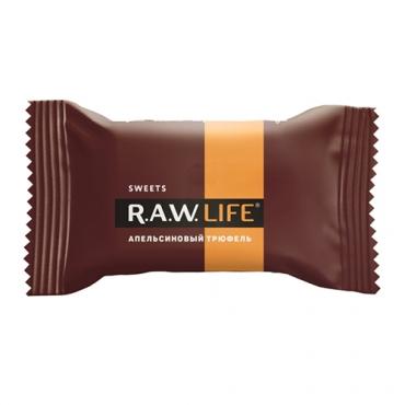 """Конфета """"Апельсиновый трюфель"""" Raw Life, 18 гр"""