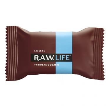 """Конфета """"Трюфель с солью"""" Raw Life, 18 гр"""