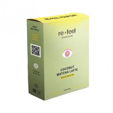 Coconut Matcha Latte (саше) Re-feel, 3 шт.