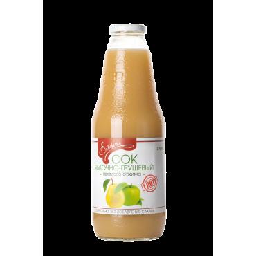 Сок яблочно-грушевый с мякотью прямого отжима Samberry, 1л
