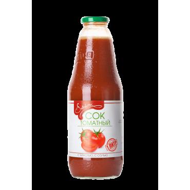 Сок томатный с мякотью с солью восстановленный Samberry, 1л