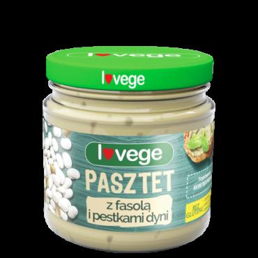 Паштет Lovege с фасолью и тыквенными семечками Sante, 180 гр