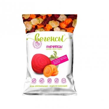 """Смесь сушеных овощей """"Нечипсы. Морковь, свёкла, редька"""" Вегенсы, 40 гр"""