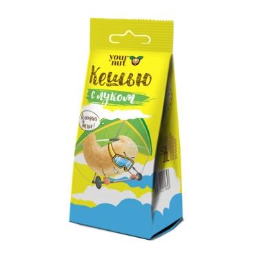 Кешью обжаренный соленый с луком Your Nut, 80 гр