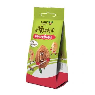 Микс ореховый соленый с пряностями Your nut, 80 гр