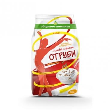 """Отруби """"Пшеничные"""" с клюквой и яблоком  Здоровое питание, 100 гр"""