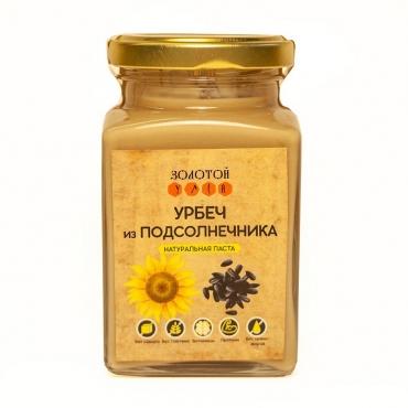 Урбеч из семян подсолнечника Золотой Улей, 240 гр