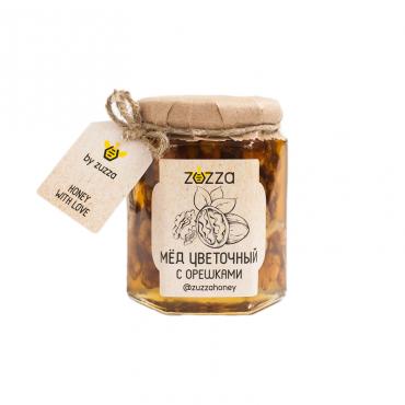 Мёд цветочный с орешками Zuzza, 250 гр