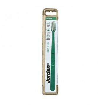 Щетка зубная для взрослых средней жесткости Green Clean Jordan