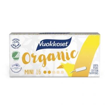 Тампоны органические Mini Vuokkoset, 16 шт