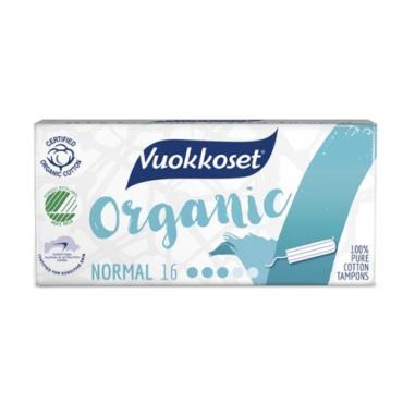 Тампоны органические Normal Vuokkoset, 16 шт