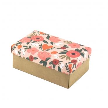 """Коробка для подарка """"Персиковые цветы"""" 18х11х7"""