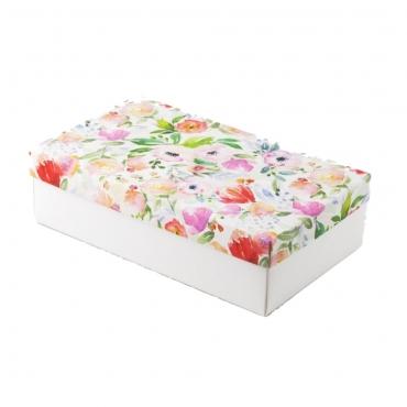 "Коробка для подарка ""Акварельные цветы"" 25х15х7"