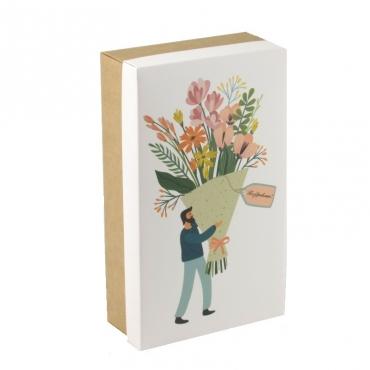 """Коробка для подарка """"Букет"""" 25х15х7"""