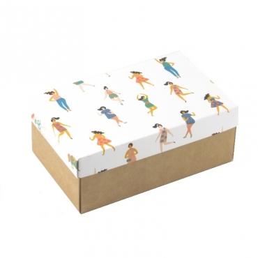 """Коробка для подарка """"Девчата"""" 18х11х7"""