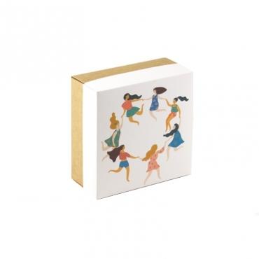 "Коробка для подарка ""Хоровод"" 15х15х7"