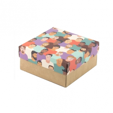 "Коробка для подарка ""Мужчины"" 15х15х7"