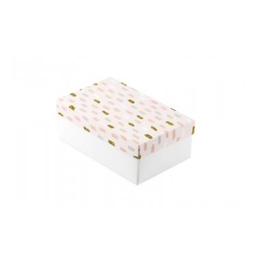 """Коробка для подарка """"Розовые полоски"""" 18х11х7"""