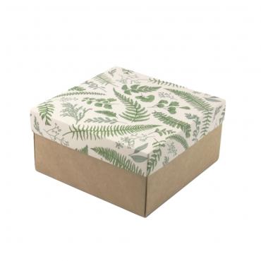 "Коробка для подарка ""Папоротник"" 15х15х7"