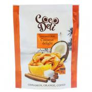 Кокосовые чипсы Cocodeli с апельсином, корицей и кофе, 30гр